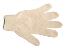 Перчатки трикотажные х/б (6-ти нитка 7кл) белые