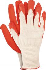 Перчатки трикотажные х/б с латексным покрытием (цветные)