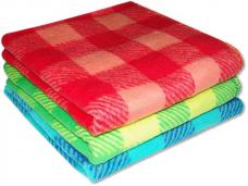 Одеяло полушерстяное 1,5-спальное (70%-шерсть, 30%-ПЭ) 140х205см