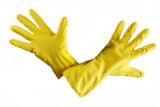 Перчатки латексные (ворсовые) хозяйственные