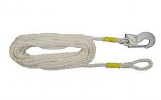 Строп пояса канат ПА (В-10П) ф13 L-10м с 1 карабин.КР-03 и петлей (Потенциал)