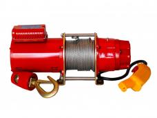 Лебедка электро. KDJ-300E г/п-300кг 220В L-30м ф7,0мм 10-15м/мин 1,5кВт 10А 49кг