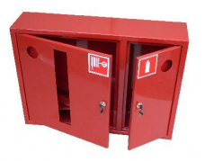 Шкаф пожарный металл. навесной 2отд. открытый ШПК-315НОКЛ 840х650х220мм красн. левый