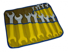 Набор ключей рожковых КГД 12шт(8х10-30х32мм) цинк. №12 (Камышин) в сумке-скатке