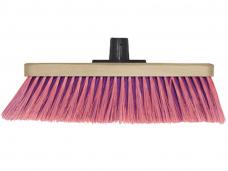 Щетка швабра для пола 5-рядная (5С1-30) на деревянной колодке L320мм пластиковая втулка без черенка
