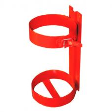 Кронштейн огнетушителя ОП-5 мет. h365мм (2 кольца ф160) красный