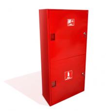 Шкаф пожарный металл. навесной 2отд. закрытый ШПК-320НЗК 540х1300х230мм красн.