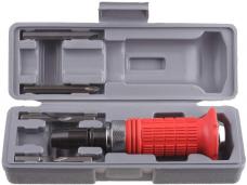 Отвертка ударно-поворотная цанга 8мм +6насадок(3Ph+3SL) обрезиненная в пластиковой коробке