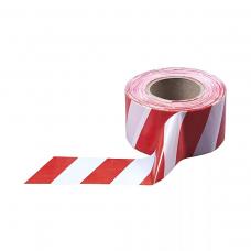 Лента оградительная ЛО-250 красно-белая 75мм 50мкм (шт/250пог.м)