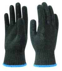 Перчатки трикотажные х/б (4-х нитка кл.10) черные
