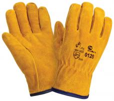 Перчатки спилковые утепленные (иск.мех)