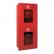 Шкаф пожарный металл. встроенный 2отд. открытый ШПК-320ВОК 540х1300х230мм красн.