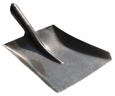 Лопата совковая строительная ЛСП рельсовая сталь эмаль черная S-1  без черенка .