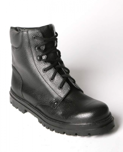Ботинки высокий берец ут.(иск.мех) хромовые, бортопрошивные