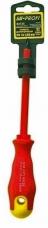 Отвертка диэлектрическая крестовая Cr-V магнит обрезиненная ручка