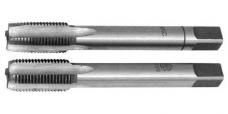Метчик ручной для трубной резьбы комплектный из 2-х штук,сталь 9ХС,ГОСТ 3266-81