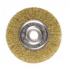 Щетка дисковая металлическая гофрированная латунная