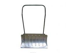 Движок ДМа для снега малый (750х460мм) алюминиевый дугообразная металлическая ручка (1200мм)
