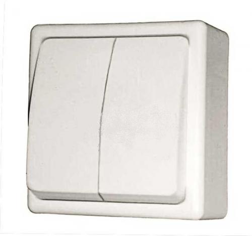 Выключатель открытой проводки 2клав. А-56-004 АБС