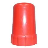 Колпак-головка пласт. для пропанового баллона h-120мм (красный)