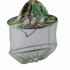 Панама противомоскитная с сеткой Накомарник тк.Палатка 100%ПЭ КМФ зеленый