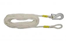 Строп пояса канат ПА (В-10П) ф11 L-10м с 1 карабин.КР-03 и петлей (Потенциал)