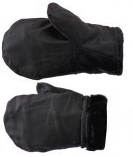 Рукавицы утепленные (натур.мех) х/б-диагональ