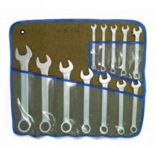 Набор ключей комбинированных 12шт 8-27мм цинк сумка-скатка
