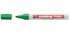Маркер промышленный Edding 750 зеленый круглый 2-4мм лаковый глянцевый алюм.