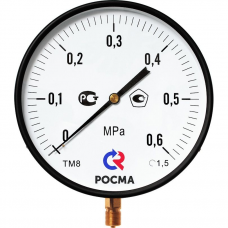 Манометр МП3-Уф (0...0,6)МПа ф100мм М20х1,5 кл.т.1,5 IP40 рад.штуцер (ж,п,г)