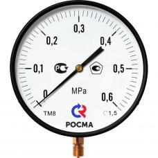 Манометр МП3-Уф 0-0,6 МПа кт.1,5 ф100мм IP40 М20х1,5 РШ