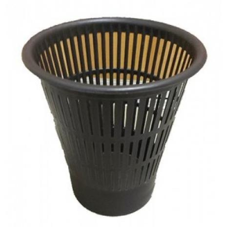 Корзина для мусора  пластиковая ф290хh320мм (черный)