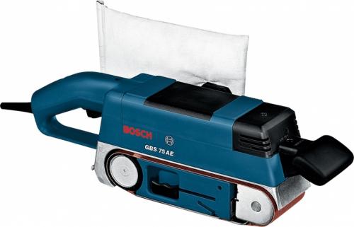 Ленточная Шлиф.Машина Bosch GBS 75 AE 750/410Вт 75х533мм 200-330м/м пыл.меш 3,4кг