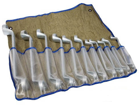 Набор ключей накидных 11шт 8х9-27х30мм цинк сумка-скатка