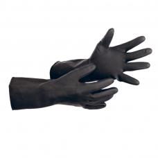 Перчатки промышленные латексные Альфа-100 №9 КЩС тип-1 т-0,92мм 35см 1/12