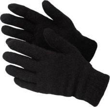 Перчатки трикотажные ПШ (шерсть 70%, п/э 30%) черные (600-ПШ-10)