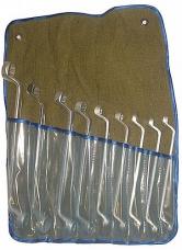 Набор ключей накидных 9шт 8х9-22х24мм цинк сумка-скатка