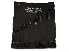 Набор ключей накидных 8шт 6х7-30х32мм оксид сумка-скатка Sitomo 42237