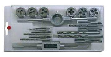 Набор резьбонарезной комб. метчики-плашки 20пр.(М3-М10+вороток.) пластиковая упаковка