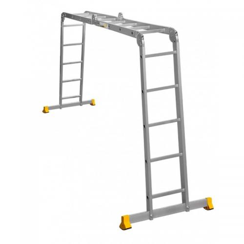 Лестница трансформер шарнирная Алюмет Т455 4-секц. (4х5ст) 5,69/2,76/1,44м 16,8кг