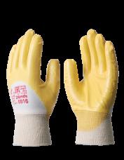 Перчатки нитриловые Нитролайт РЧ МБС+КР х/б п/облив. манжет-резинка