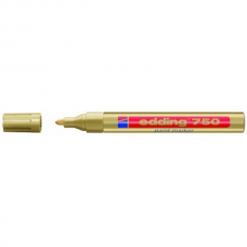 Маркер промышленный Edding 750 желтый круглый 2-4мм лаковый глянцевый алюм.