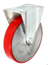 Колесная опора неповоротная FCps-200/80 ПУ литое ф202х40 h236 280кгс (скольж)