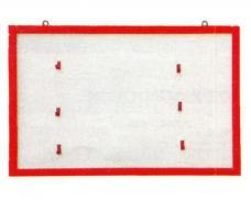 Щит пожарный навесной открытый металл. 1190х1190мм 8 крюч. белый/красн.(б/комплекта)