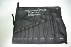 Набор ключей рожковых 9шт 6х7-36х41мм оксид сумка-скатка