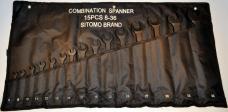 Набор ключей комбинированных 15шт 8-36мм оксид сумка-скатка