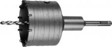 Коронка буровая полая 80мм L60мм SDS-plus М22 10-зуб ВК85 сверло