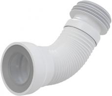 Слив для унитаза гибкий гофра жеский выпуск ф110 212-320мм