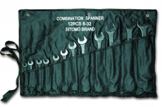 Набор ключей комбинированных 12шт 8-32мм оксид сумка-скатка