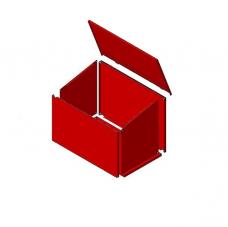 Ящик пожарный для песка мет. 0,1м3 700х500х300см (ЯПР-1/ЯП-01(М)